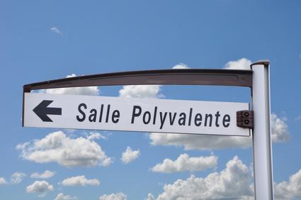 Panneau salle polyvalente