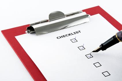 Checklist d'une réunion hors des bureaux