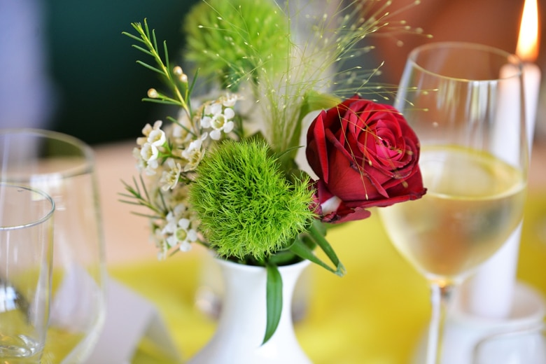 Une belle décoration de mariage à petit prix
