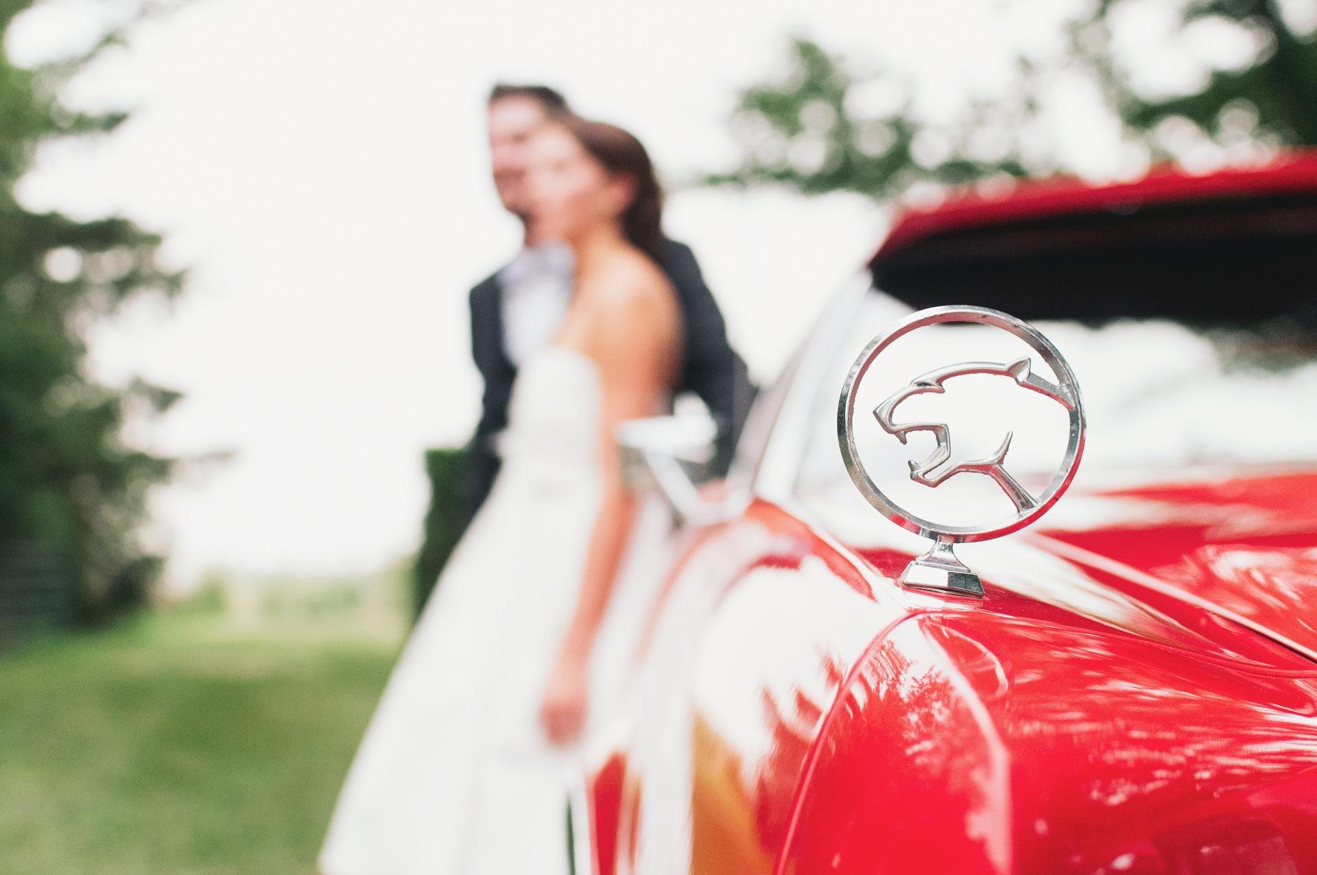 Voitures des mariés